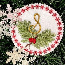 Pine Bough Alphabet and Ornament S