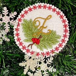 Pine Bough Alphabet and Ornament Z
