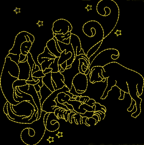 NATIVITY REDWORK 4x4