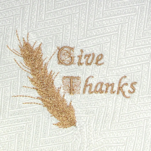 GIVE THANKS WHEAT STALK 4X4