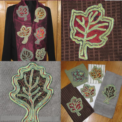 Leaves Fall Autumn Chenille In The Hoop Embroidery Designs Exclusive