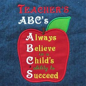 TEACHER'S ABC'S  5X7