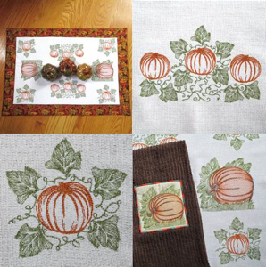 VINTAGE PUMPKINS MINI SET  5x7