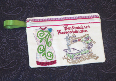 EMBROIDERER EXTRAORDINAIRE PURSE ITH