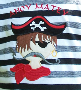 PIRATE APPLIQUE 5x7