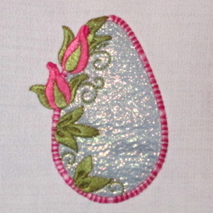 ROSEBUD EGG APPLIQUE' 4X4