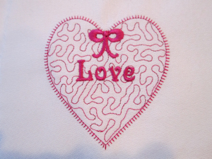 Stipple Heart 4x4