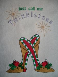 CHRISTMAS SHOE 5x7