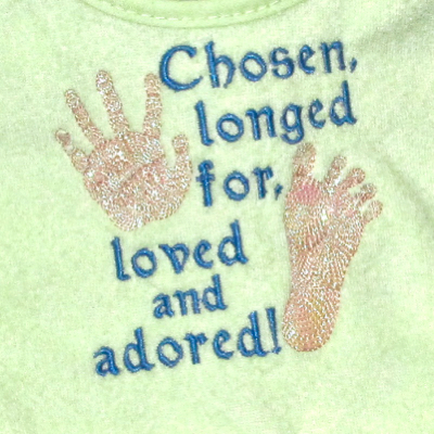 adopted baby embroidery design