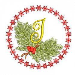 Pine Bough Alphabet and Ornament I