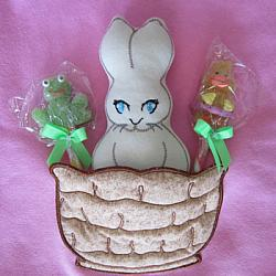 BUNNY in a BASKET POCKET SOFTIE 5X7