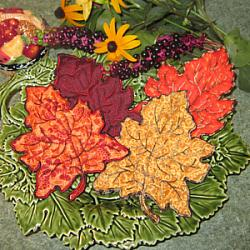 Fall Leaf Trapunto Applique 5X7