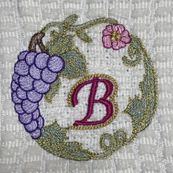 Luscious Grapes Monogram B and Gift Tag
