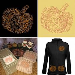Pumpkin Zendoodle Embroidery Designs
