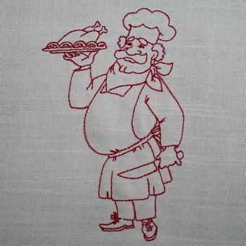 Redwork Chef 1 5x7