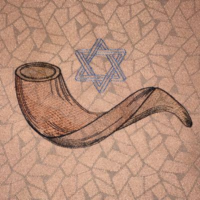 Shofar and Star of David
