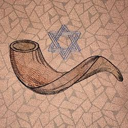 Shofar and Star of David
